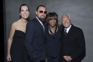1 Roberta Armani, Leonardo DiCaprio, Tina Turner and Giorgio Armani