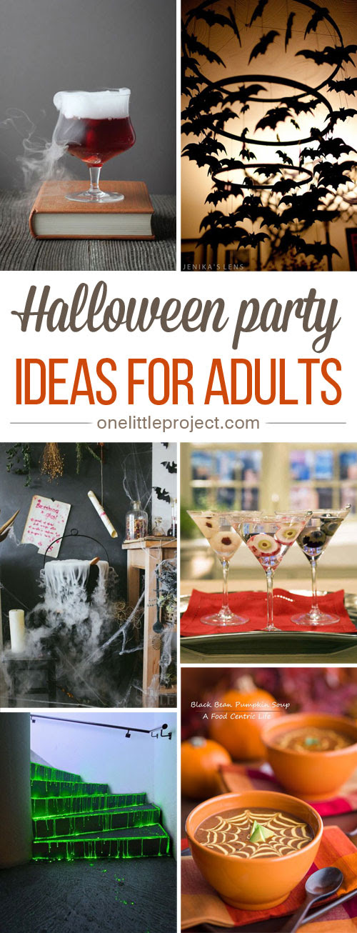 This list has me inspired! From spooky cocktailsto elegant party decor, this collection of Halloween party ideas for adults will help you plan the BEST PARTY EVER!