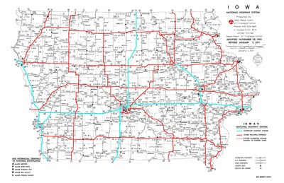 Iowa National Highway System Map 2012 Iowa Publications