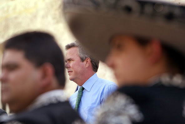In a 2009 voter-registration application, obtained from the Miami-Dade County Elections Department, Jeb Bush said he was Hispanic.