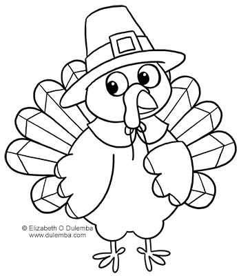 cartoon turkey coloring pages - photo#22