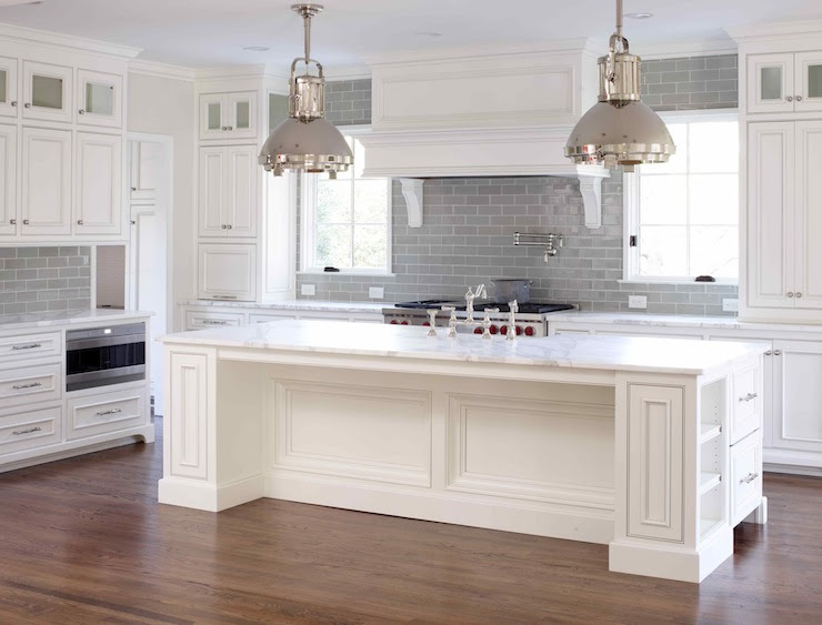 Gray Subway Tile - Transitional - kitchen - L. Kae Interiors