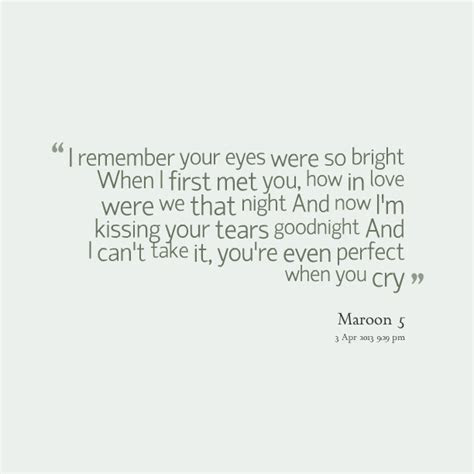 I Remember When I Met You Quotes