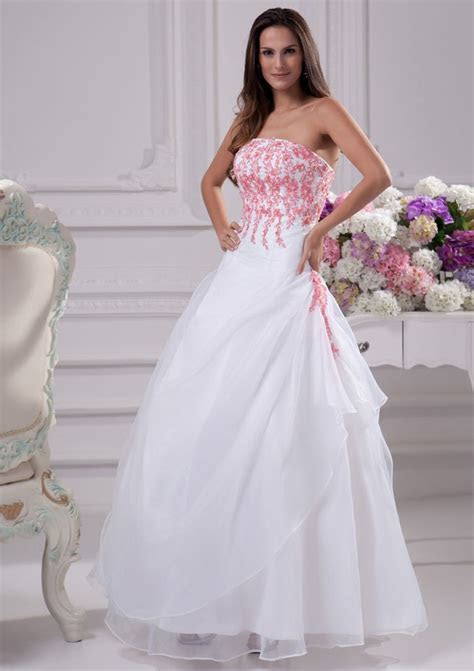 White and hot pink wedding dresses: Pictures ideas, Guide