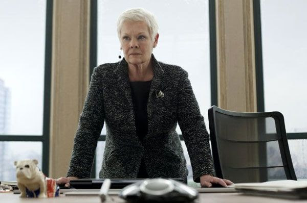 Judi Dench returns as M in SKYFALL.