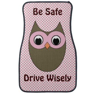 Cute Owl with Quote Floor Mats