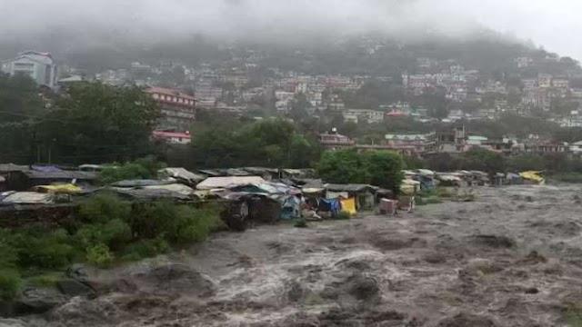हिमाचल प्रदेश में बारिश की चेतावनी जारी, कुल्लू में भारी बरसात के कारण बाढ़ जैसी स्थिति
