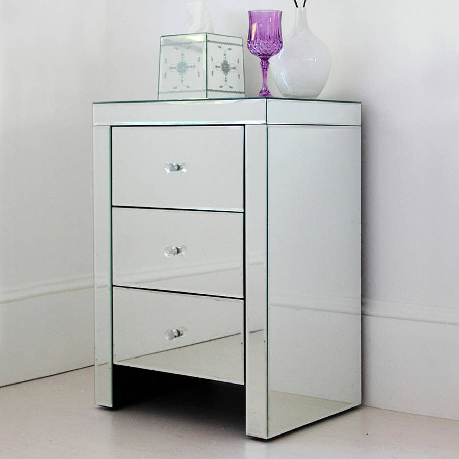 Mirrored bedside table - Add a Touch Of Elegance