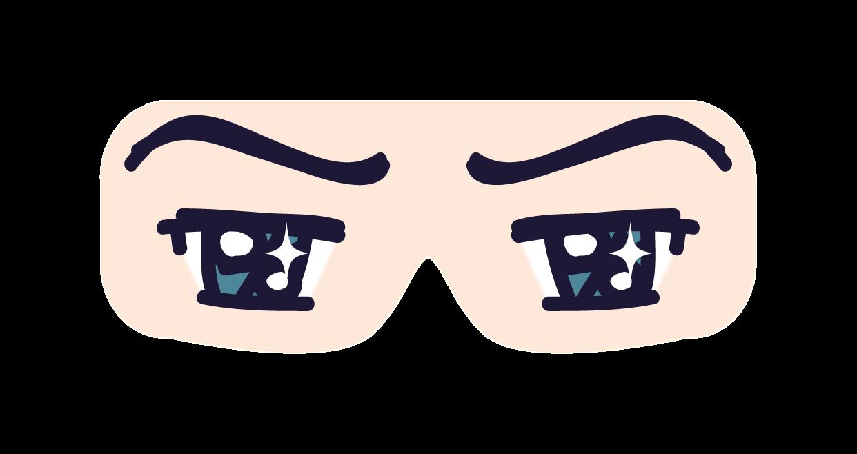 マンガアニメタイプの目でアイマスク 目線目隠し加工