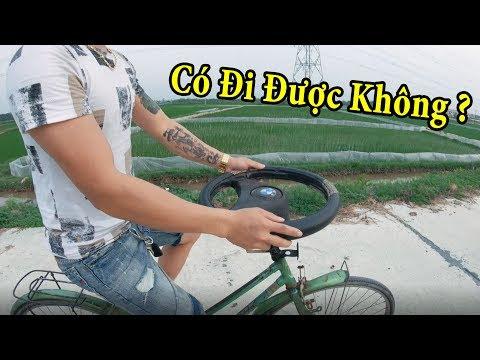 PHD | Gắn Vô Lăng Ô Tô Vào Xe Đạp | Steering Wheel Bike