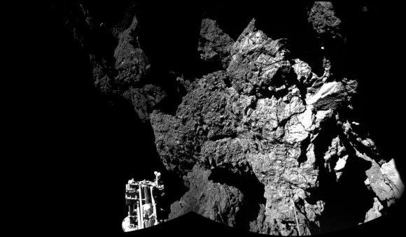 Superficie del cometa 67P en la región de Abydos vista por las cámaras CIVA de Philae (ESA/Philae/CIVA).