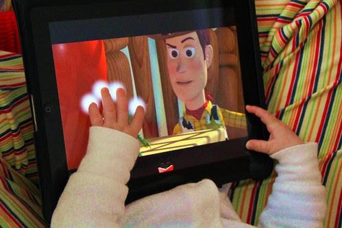 Julen con su iPad