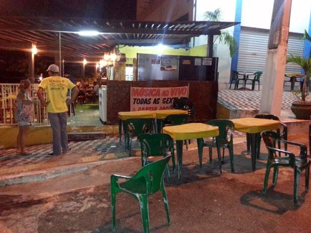 Bar foi assaltando nesta sexta (8) na zona Sul de Natal (Foto: Kleber Teixeira/Inter TV Cabugi)