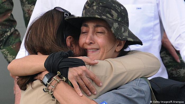 Ingrid Betancourt mit ihrer Mutter Yolanda Pulecio Bogota