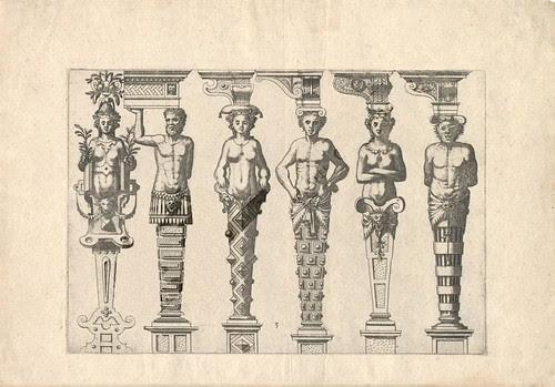 Caryatidum - embellished architectural plinths or columns