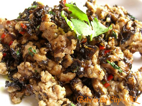 Minced Pork With Pickled Olive Leaves