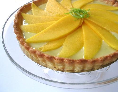 Mango Lime Curd Tart
