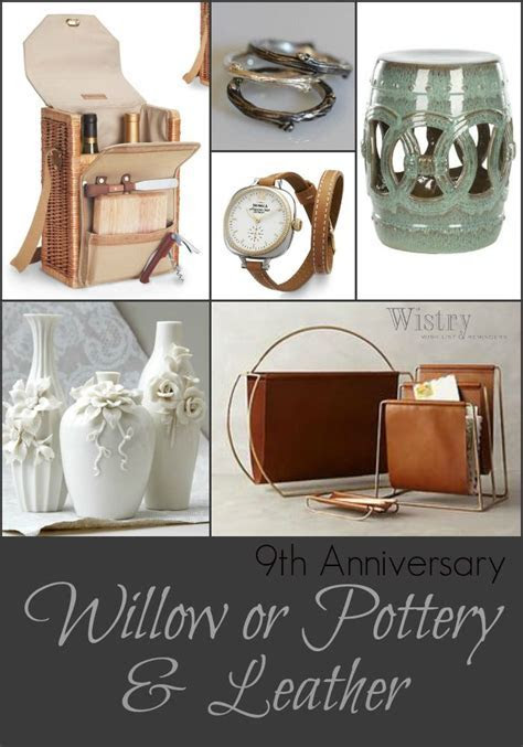 9th Anniversary Gift Ideas   Traditional: Willow & Pottery