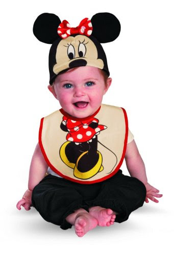 DRESS YOUR INFANT WITH DISNEY MINNIE MOUSE INFANT BIB AND HAT ACCESSORY