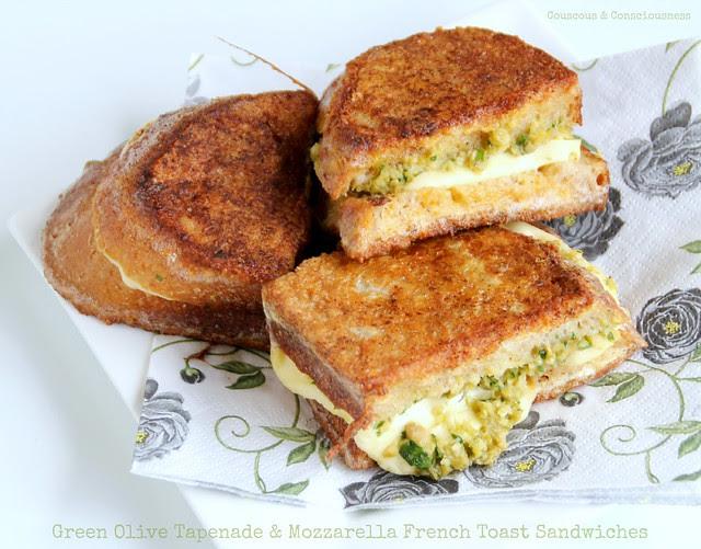 Green Olive Tapenade & Mozzarella French Toast Sandwiches 2