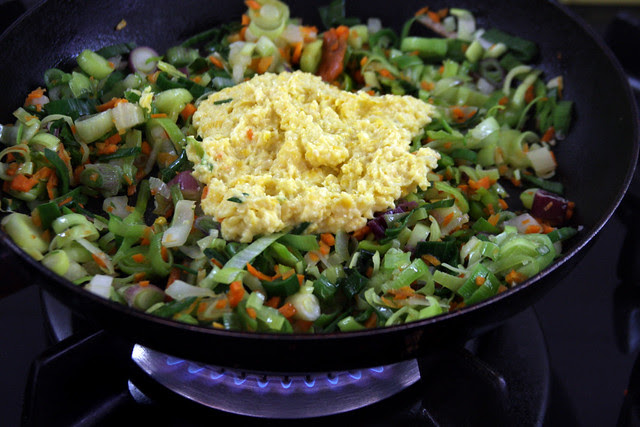 Verduras y maíz