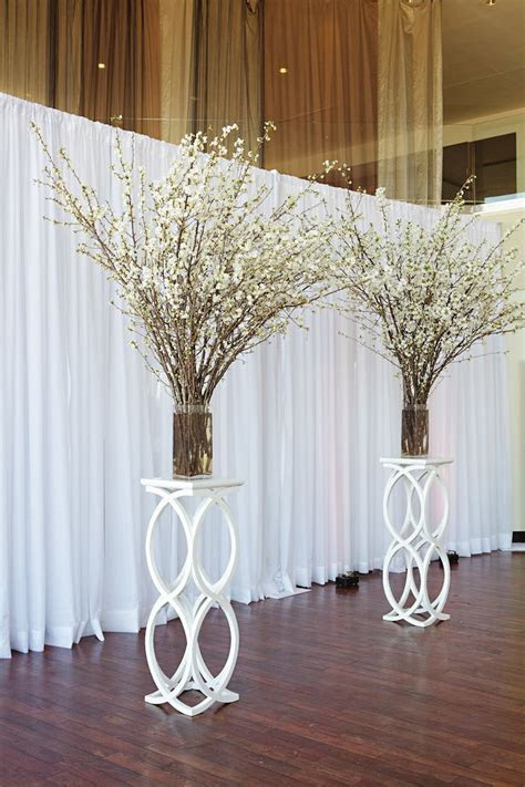 white flower branches wedding backdrop   Tulle & Chantilly