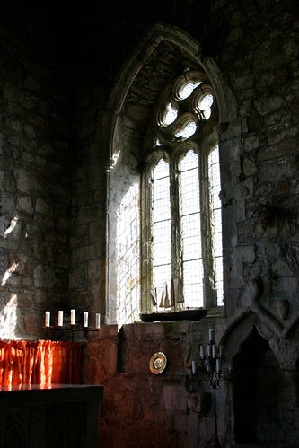 Light through the windows of Iona Abbey
