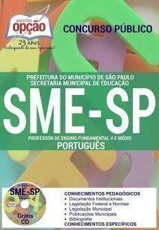apostila sme - sp concurso PROFESSOR DE PORTUGUÊS