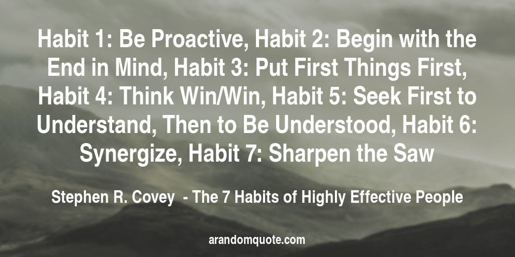 Best Image Quotes From The 7 Habits Of Highly Effective People Book