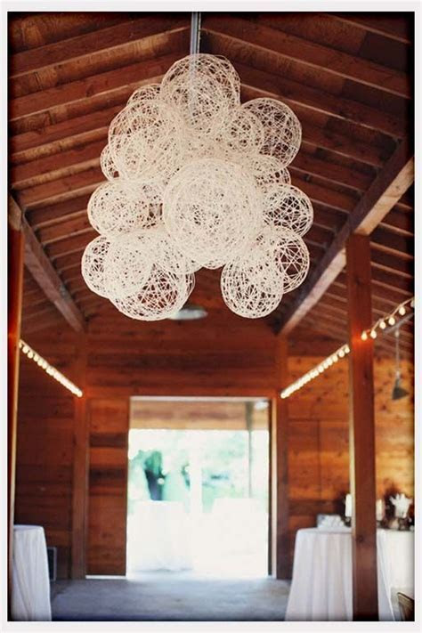 Decorations, String Laterns For Rustic Wedding Decor: DIY