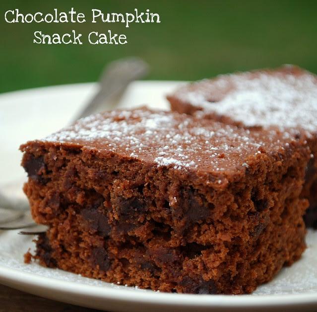 Chocolate Pumpkin Snack Cake crop