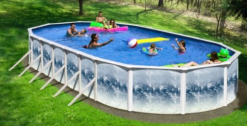 Above ground pool oval infinity pools ss series 15x30 above ground swimming pool to big save for Large above ground swimming pools