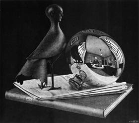 Still Life with Spherical Mirror - M.C. Escher