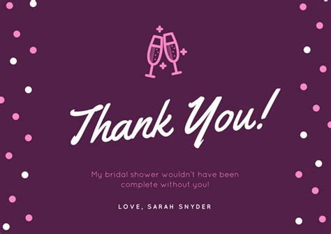 Customize 171  Bridal Shower Thank You Card templates