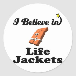 i believe in life jackets sticker