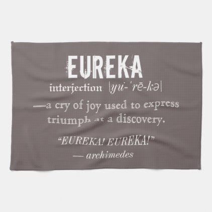 Eureka Definition Archimedes Greek Nerd Fraternity Towel