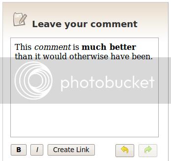Rich Text Comments Screenshot