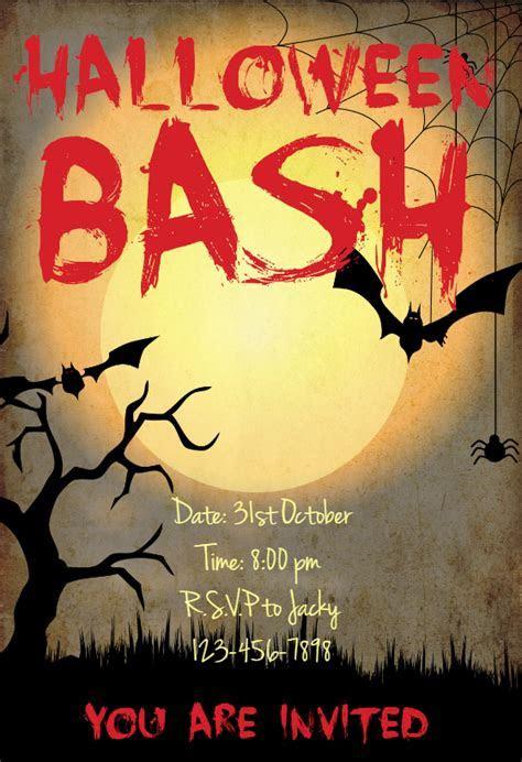 Halloween Bash   Halloween Party Invitation Template (Free