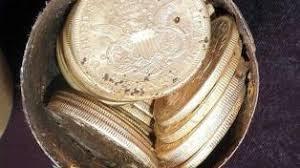 monedas de oro jardin