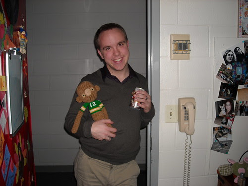 Justin and his new monkey