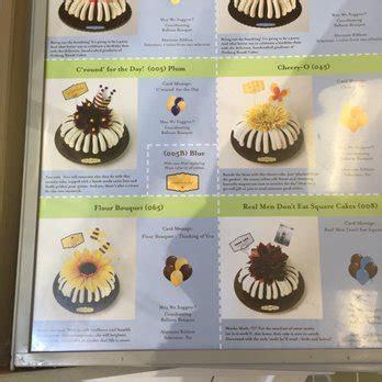 Nothing Bundt Cakes Bundtini Nutrition Facts   Nutrition