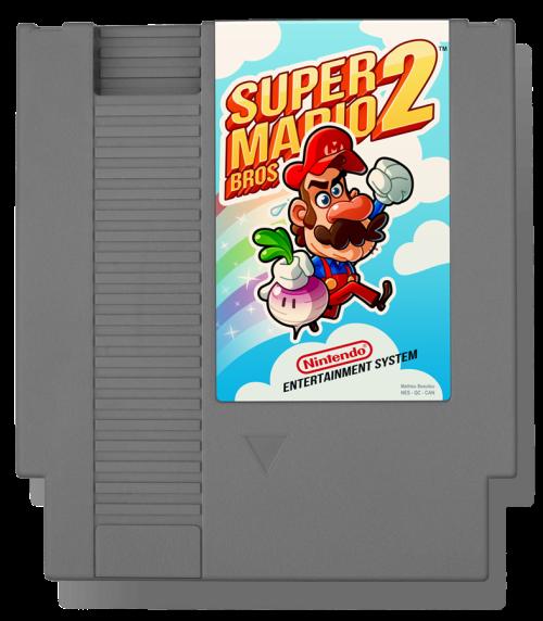 Super Mario Bros. 2 (1988) Nintendo Entertainment System Cartridge Tribute