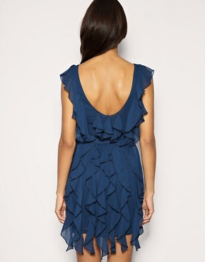 Image 2 of ASOS PETITE Soft Frill Belted Dress