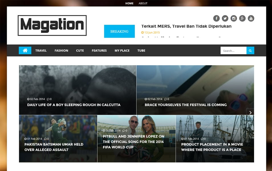 Magation Responsive Template Magazine Blogger