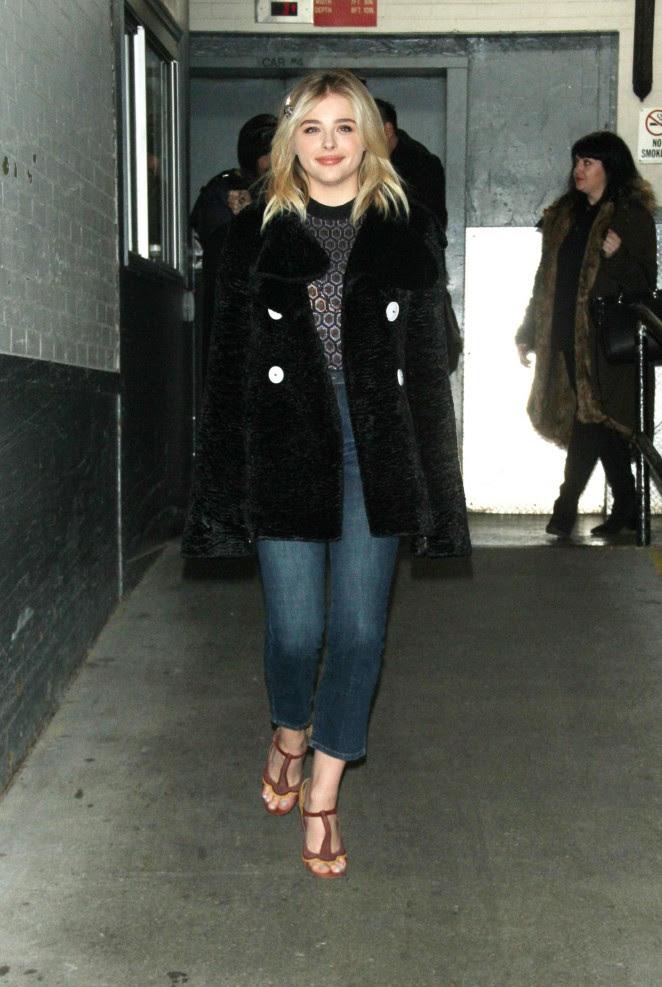 Chloe Moretz Leggy in Short Dress -23