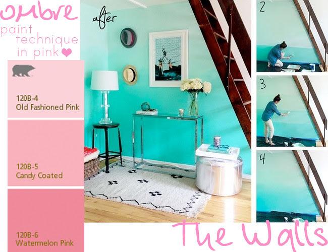 Bedroom ombre walls
