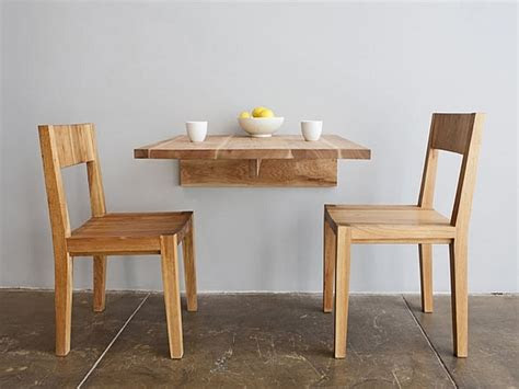 wall fold  dining tables  small spaces wall