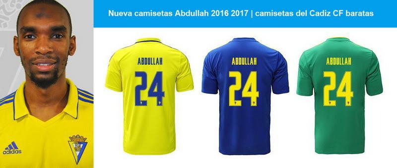 Nueva camisetas Abdullah 2016 2017 | camisetas del Cadiz CF baratasRafidine Abdullah (Marsella, Francia, 15 de enero de 1994) es un futbolista francés. Juega de centrocampista y su equipo actual es el Cádiz C.F. de la Segunda División de...