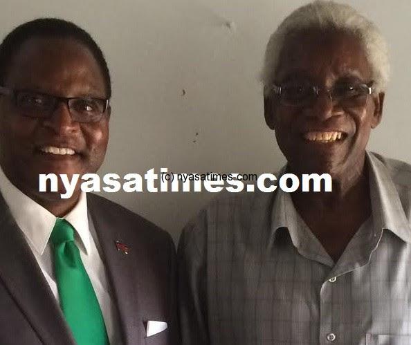 MCP president Lazarous Chakwera and Chakuamba (right)