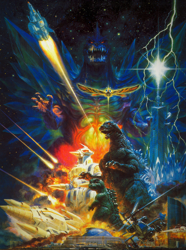 Godzilla vs. Space Godzilla, Noriyoshi Ohrai Painting (Toho, 1994)